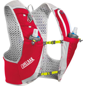 CamelBak Ultra Pro Drinkvest met Quick Stow Heupflacon, crimson red/lime punch